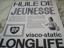 ANCIENNE PUBLICITE HUILE DE JEUNESSE LONGLIFE  BP  1964 - Transports
