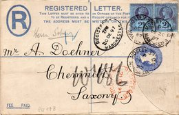 1887: Horiz. Pair Of 2 1/2 D QV Jub. Iss. On Station. R-cover (Michel EU 19B), Used In 1897; S.G. Spec. K31(1) - 1840-1901 (Victoria)