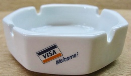 CENDRIER VISA WELCOME ! OFFERED BY VISA CARD CENTER CORNER BANK - Cendriers