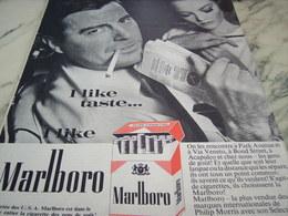 ANCIENNE PUBLICITE I LIKE TASTE   CIGARETTE MARLBORO  1964 - Tabac (objets Liés)