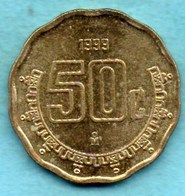 MEXIQUE / MEXICO 50 CENTAVOS 1999 - Mexiko