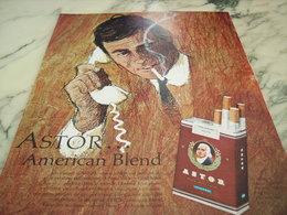 ANCIENNE PUBLICITE CIGARETTE ASTOR AMERICAN BLEND 1964 - Tabac (objets Liés)