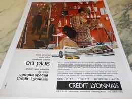 ANCIENNE  PUBLICITE BANQUE CREDIT LYONNAIS 1964 - Autres