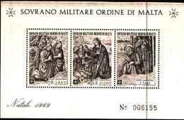 91725)  SOVRANO MILITARE ORDINE DI MALTA NATALE-1969. - BF 2-MNH** - Sovrano Militare Ordine Di Malta