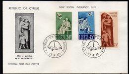 CYPRUS, 1965 INSURANCE LAWS FDC - Chypre (République)