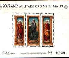 91726)  SOVRANO MILITARE ORDINE DI MALTA NATALE-1971. - BF 4-MNH** - Sovrano Militare Ordine Di Malta
