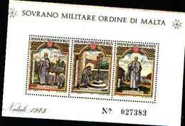 91727)  SOVRANO MILITARE ORDINE DI MALTA NATALE-1973. - BF 6-MNH** - Sovrano Militare Ordine Di Malta