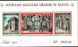 91728)  SOVRANO MILITARE ORDINE DI MALTA NATALE-1970. - BF 3-MNH** - Sovrano Militare Ordine Di Malta