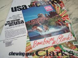 ANCIENNE PUBLICITE  CHEWING GUM  CLARK S 1964 - Autres Collections