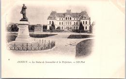 74 ANNECY - La Statue De Sommeiller Et La Préfecture - Annecy