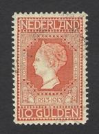 NETHERLANDS 1913 INDEPENDENCE 10g Nº 101 - Periode 1891-1948 (Wilhelmina)