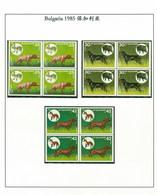 Bulgaria 1985 Dog Chien 4 Block MNH 7V - Ungebraucht
