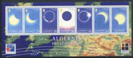 91730)  Alderney 1999 Mi. Bl. 6 Foglietto 100% Nuovo ** Total Solar Eclipse - Alderney