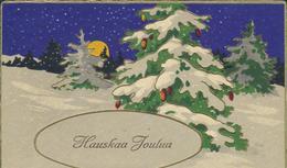 61-762 Suomi Finland Finnland Christmas Pressed Präge PC Sent 1938 1938 - Finlande