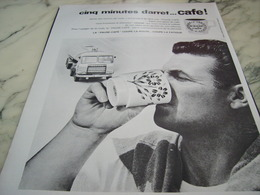 ANCIENNE PUBLICITE 5 MINUTES D ARRET CAFE 1964 - Afiches