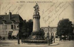 10 - TROYES - Le Monument Des Enfants De L'Aube Et La Gare - Troyes