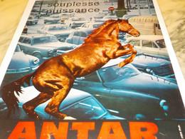 ANCIENNE PUBLICITE SOUPLESSE PUISSANCE ANTAR 1964 - Transports