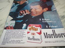ANCIENNE PUBLICITE   CIGARETTE MARLBORO  1964 - Raucherutensilien (ausser Tabak)