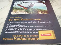 ANCIENNE PUBLICITE FILM KODACHROME DE KODAK    1964 - Photographie
