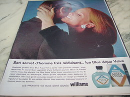 ANCIENNE  PUBLICITE SON SECRET D HOMME  APRES RASAGE AQUA VELVA 1964 - Autres