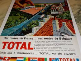 ANCIENNE PUBLICITE ROUTE DE FRANCE AU ROUTE DE BELGIQUE TOTAL 1964 - Transports