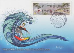 Carte   FRANCE  Vignette  LISA    Assemblée   PHILAPOSTEL    LACANAU   2018 - 2010-... Vignettes Illustrées