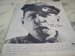 ANCIENNE PUBLICITE HE LA HAUT DEFENSE DE STATIONNER  ESSO  1964 - Transports
