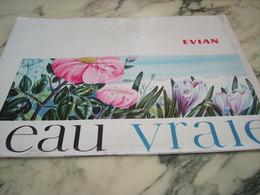 ANCIENNE PUBLICITE EVIAN L EAU VRAIE 1964 - Affiches