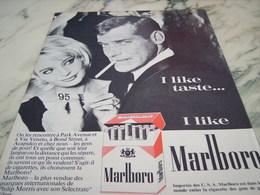 ANCIENNE PUBLICITE I LIKE  CIGARETTE MARLBORO  1964 - Tabac (objets Liés)