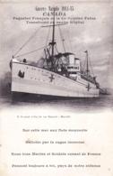 Transport Guerre Navale 1914 - Paquebot Canada Transformé En Navire Hopital - Guerre