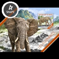 Niger, 2014. [nig14218] Elephans (m\s+s\s) - Elephants