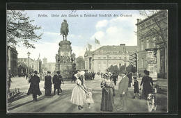 AK Berlin, Unter Den Linden, Denkmal Friedrich Des Grossen, Central-Hotel Berlin - Mitte