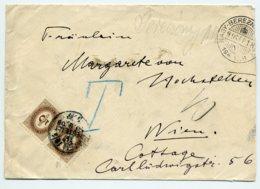 PORTO Mi. 4 (2) Brief UNGARN-WIEN - Postage Due