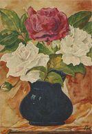 """20 AKs Künstler """"Bu"""" 10x Blühender Apfelzweig + 10x Rosen In Vase Farbfotos ~1945 # - Ansichtskarten"""