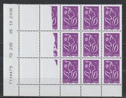 YT 3968 ** 0,85€ Violet-rouge Lamouche, Coin Daté Avec Impression à Sec, RR, SUP - Varieties: 2000-09 Mint/hinged