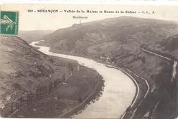189. BESANCON . VALLEE DE LA MALATE ET ROUTE DE LA SUISSE . AFFR A-CHEVAL RECTO / VERSO DU 21-4-1915 . 2 SCANES - Besancon