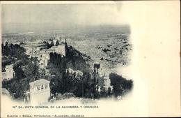 Cp Granada Andalusien Spanien, Vista General De La Alhambra - Vari