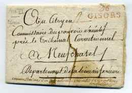 Révolution Française / Commissaire Du Directoire Executif De Gournay + 26 GISORS / Dept De L'Eure / An 6 - Marcophilie (Lettres)