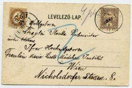 PORTO Mi. 10 Postkarte ADONY-SZAPOLOS - WIEN - Postage Due