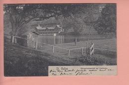 OUDE POSTKAART ZWITSERLAND- SCHWEIZ - SUISSE -   ST. GALLEN - MAENNERBADEANSTALT - 1904 - SG St. Gall