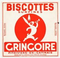 Buvard 15.9 X 15.5 Perforé Biscottes Surfines GRINGOIRE  Poids Net à L'emballage 400 Gr. Environ - Biscottes