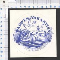 Sticker - Wadd'en Vakanties Winterswijk - See The 2 Scans For Condition. ( Originalscan ) - Autocollants