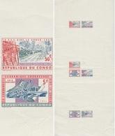 Congo Kin 1963, Y&T 507/13. Épreuve Taille-douce. La CEE Aide Le Congo. Construction De Route, Collecte, Vannerie, Eau - République Du Congo (1960-64)