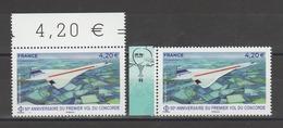 FRANCE / 2019 / Y&T PA N° 83/83a ** : Concorde (de Feuille & Feuillet) Tous BdF - Gomme D'origine Intacte - Airmail