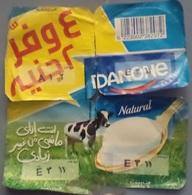 Egypt - Couvercle De Yoghurt  Danone Arabic 4 Pieces (foil) (Egypte) (Egitto) (Ägypten) (Egipto) (Egypten) Africa - Koffiemelk-bekertjes