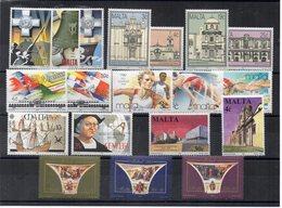 Malta - 1992 - Lotto 19 Francobolli (Annata Completa) - Nuovi - Vedi Foto - (FDC14633) - Malta
