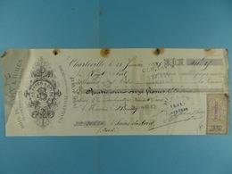Lot De Quatre Chèques De France - Cheques & Traveler's Cheques