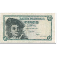 Billet, Espagne, 5 Pesetas, 1948, 1948-03-05, KM:136a, TTB - [ 3] 1936-1975 : Régence De Franco