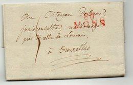 LAC - BELGIQUE - Griffe Rouge 86 MONS Vers Bruxelles - 1799 -   AA7 - 1794-1814 (Période Française)