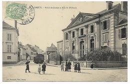 EURE ET LOIR  DREUX - Palais De Justice Et Rue St Thibault - MENUISERIE AMEUBLEMENTS LE MOULEC - Dreux
